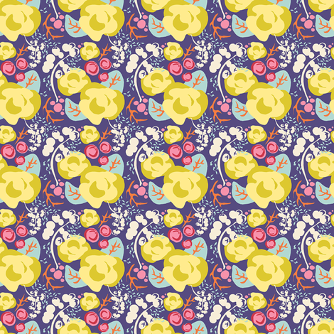 Rosy Poesy 2IN repeat fabric by joybucket on Spoonflower - custom fabric