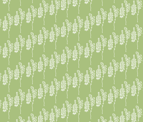 twigs sage fabric by keweenawchris on Spoonflower - custom fabric