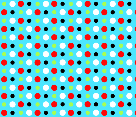Bright Dots-Turquoise fabric by mammajamma on Spoonflower - custom fabric
