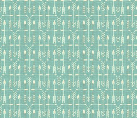 Archery aqua fabric by littlerhodydesign on Spoonflower - custom fabric