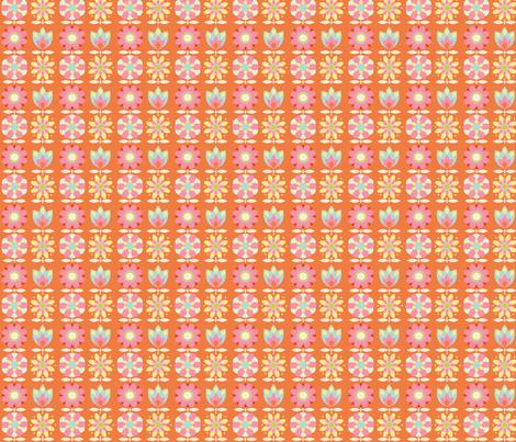 power_flower_fond_orange_S fabric by nadja_petremand on Spoonflower - custom fabric