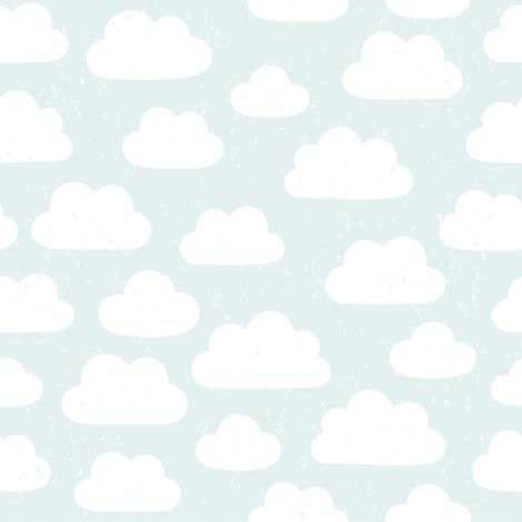 Cloudy pattern fabric by kondratya on Spoonflower - custom fabric