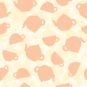 Tea time old pink pattern