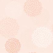 Pink flowers vintage pattern