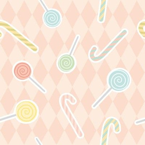 Lollipop sweet pattern