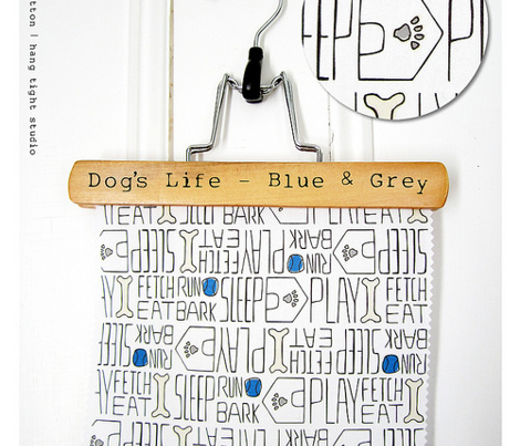 Dog's Life - Pets White Blue Grey