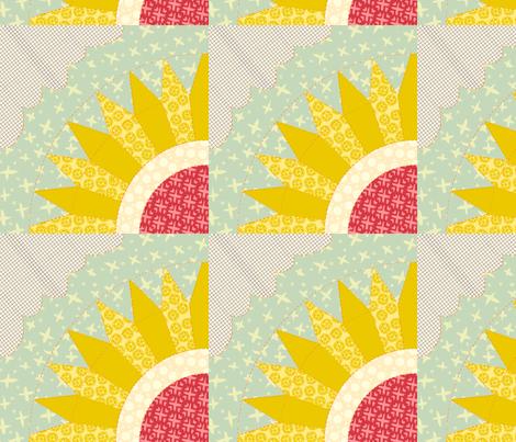 Sunburst Flower fabric by narthex on Spoonflower - custom fabric