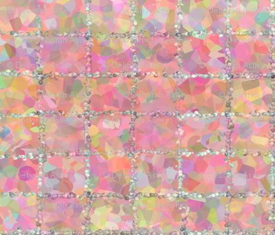 Hearts' Ease in Trimmed Pointillism
