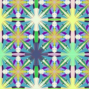 Circus Tiles on Teal