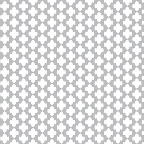 vertical lattice blanket in light gray