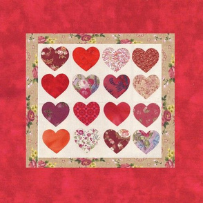 love house Hearts pillow