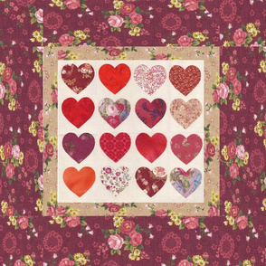 Love House Hearts Pillow 2