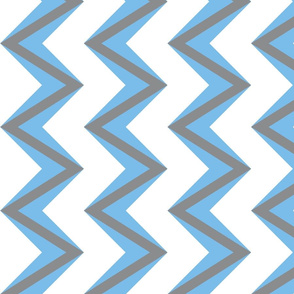 nested chevron modern blue gray