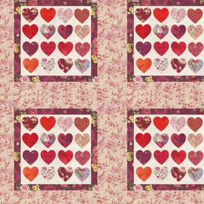 Love House Hearts Pillow Pink