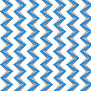 nested chevron 3D blue gray