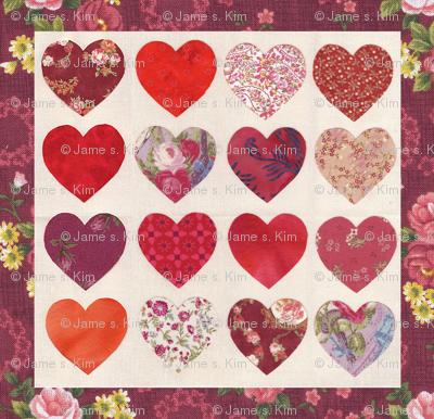 Hearts Quilt Top