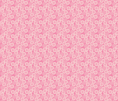 Spring daisy nude on pink fabric by stitchandyarn on Spoonflower - custom fabric