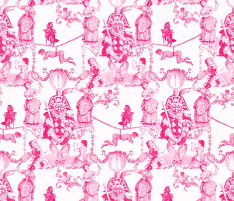 Mr. Kite's Circus Bizarre ~ Red and White fabric by peacoquettedesigns on Spoonflower - custom fabric