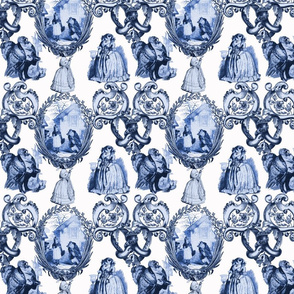 Those Animals Think They're People Toile ~ Blue and White