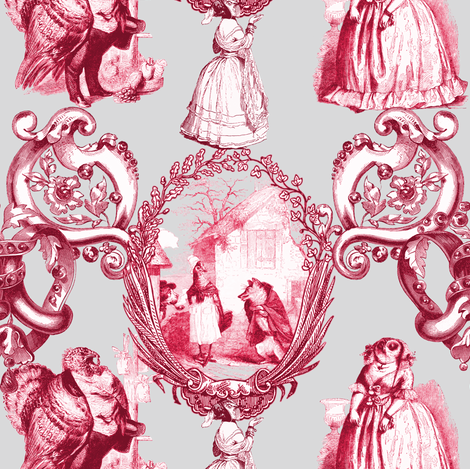 Those Animals Think They're People Toile ~ Silver Leaf  fabric by peacoquettedesigns on Spoonflower - custom fabric