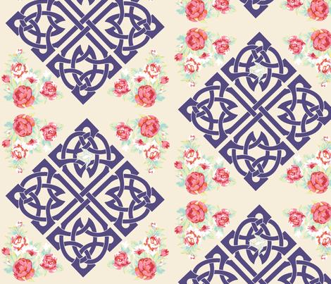 Celtic Garden Walk  fabric by walkwithmagistudio on Spoonflower - custom fabric