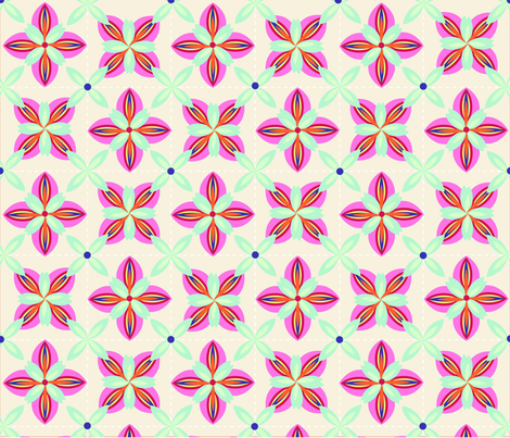 Tulips___Leaves fabric by gcatmash on Spoonflower - custom fabric