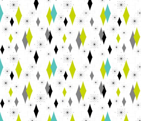 Burmond #G1 (Aqua/Lime/Grey) fabric by tonyanewton on Spoonflower - custom fabric