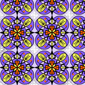 Purple and yellow pattern