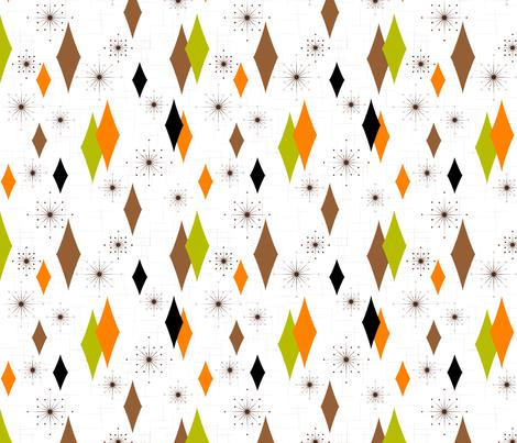 Burmond #B1 (Orange/Olive/Brown) fabric by tonyanewton on Spoonflower - custom fabric
