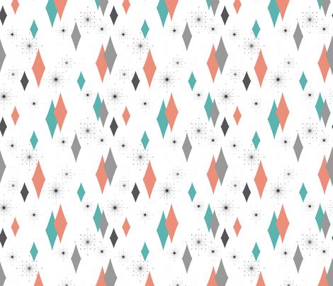 Burmond #G2 (Salmon/Seafoam) fabric by tonyanewton on Spoonflower - custom fabric
