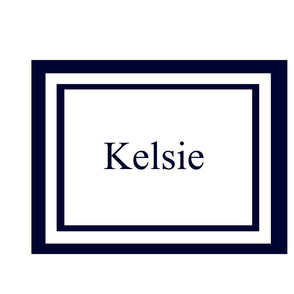 Preppy Square - Navy Personalized