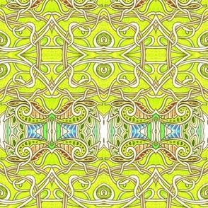 Lemon Lime Paisley Vine