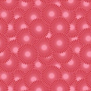 tiny daisies in Spring Quilt red and pink