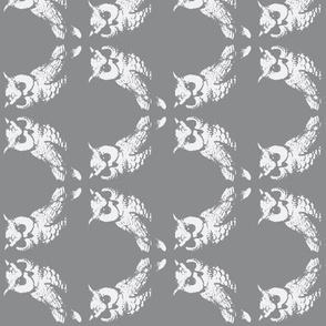2 owls screen print