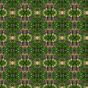 stone and grass fabric med print -ed