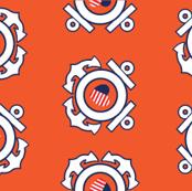 Coast Guard emblem - Orange