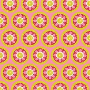 """Spring Blooms CircleMG Pink 4"""""""