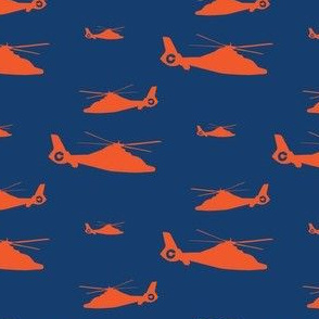 HH-65 Coast Guard Helicopter - Navy Background