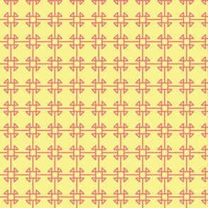 square knot yellow/pink