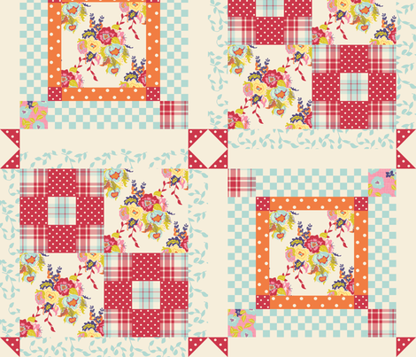 Spring_Cheater_Quilt fabric by lana_gordon_rast_ on Spoonflower - custom fabric