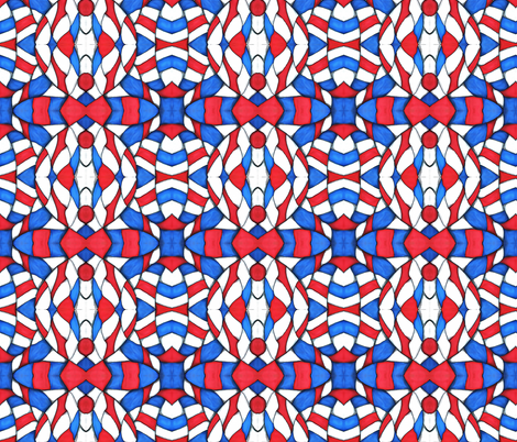 Red, White, and Blue Abstract fabric by essieofwho on Spoonflower - custom fabric