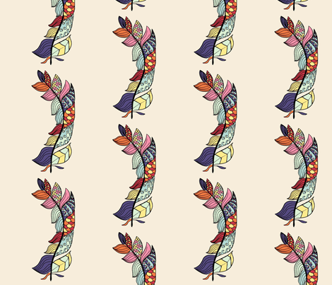 Feather for contest fabric by cafethreefeathers on Spoonflower - custom fabric