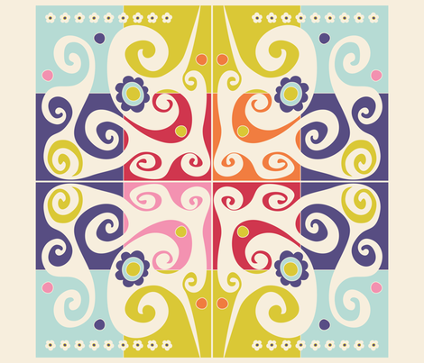 Spring quilt block fabric by liluna on Spoonflower - custom fabric