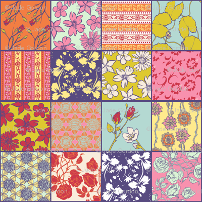Spring Color Cheater Quilt