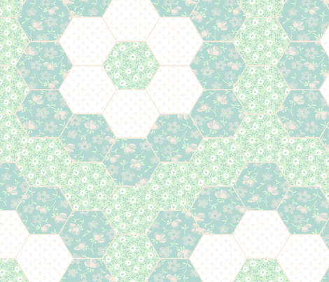 Floral Cheater Quilt  fabric by crumpetsandcrabsticks on Spoonflower - custom fabric