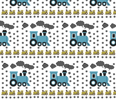 Choo Choo - Medium fabric by drapestudio on Spoonflower - custom fabric