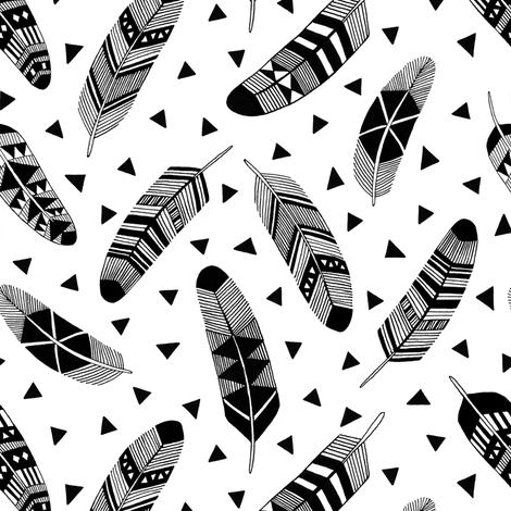 Feathers fabric by kimsa on Spoonflower - custom fabric