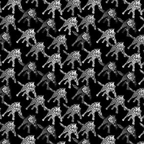 steampunk wolfpack on black