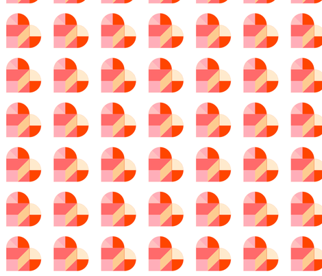 Tangram Hearts fabric by trizzuto on Spoonflower - custom fabric