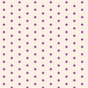 Orchid + Blush small swiss cross